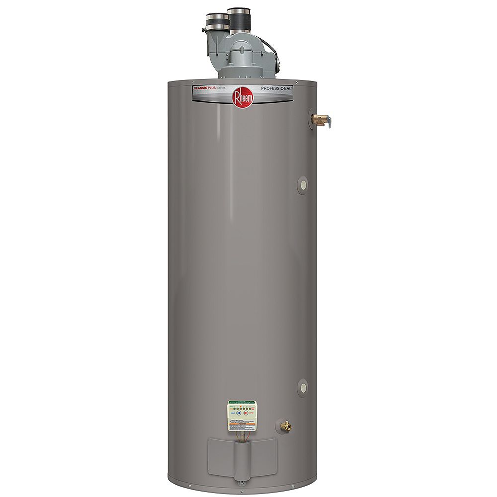 Rheem 50 Gallon Propane Power Direct Vent