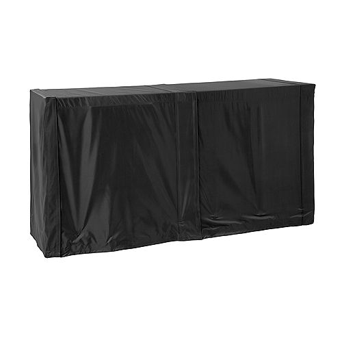 Outdoor Kitchen Black Right/Left Side Cover Panels