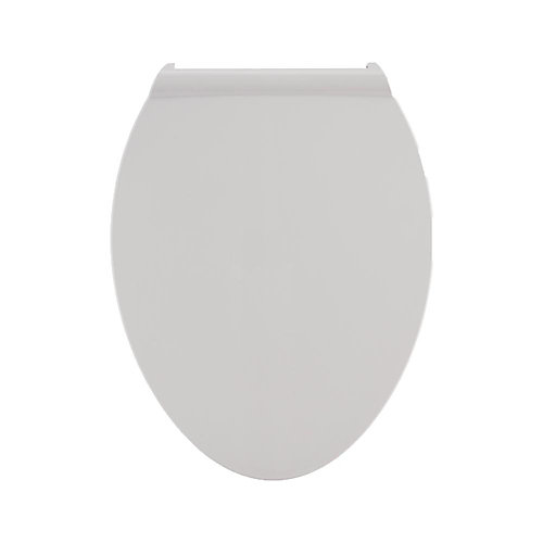 Fluent Elongated Slow Close Toilet Seat in White