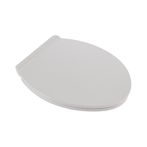 Fluent Round Slow Close Front Toilet Seat in White