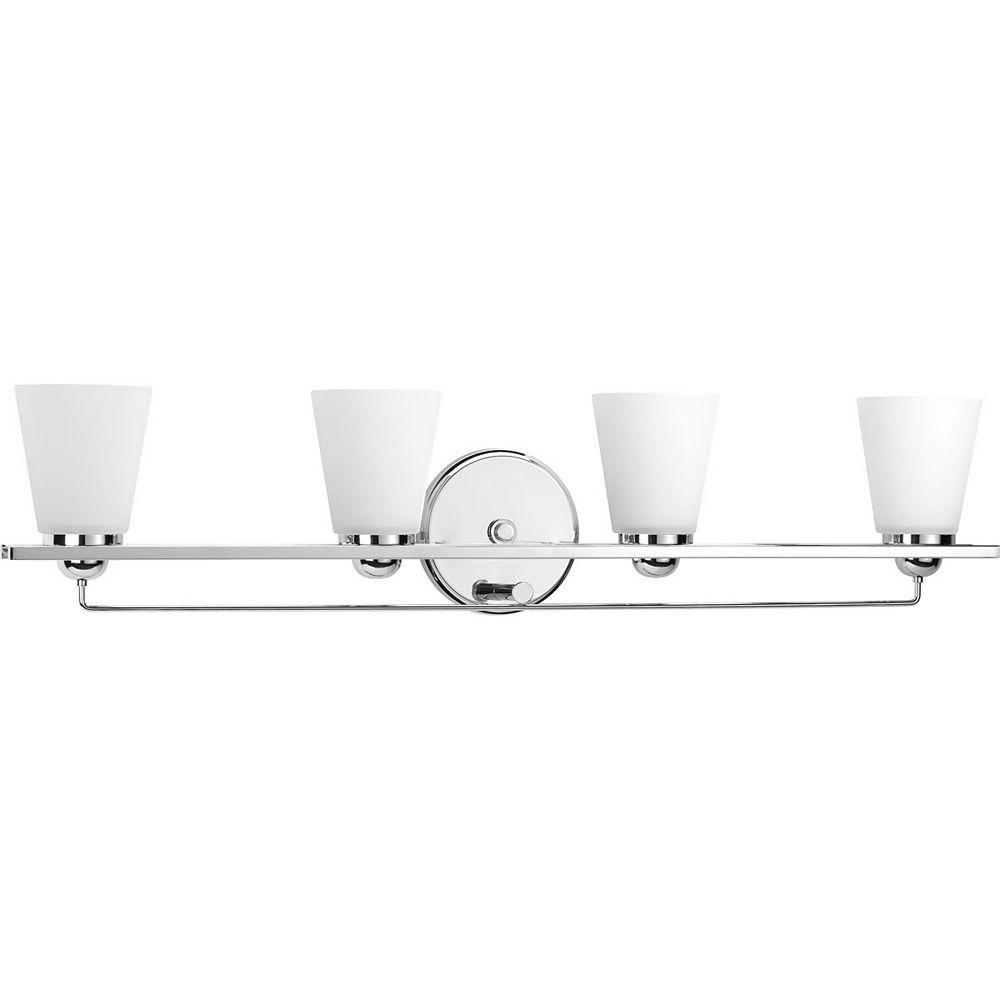 Progress Lighting Luminaire à quatre lumières Flight pour salle de bain