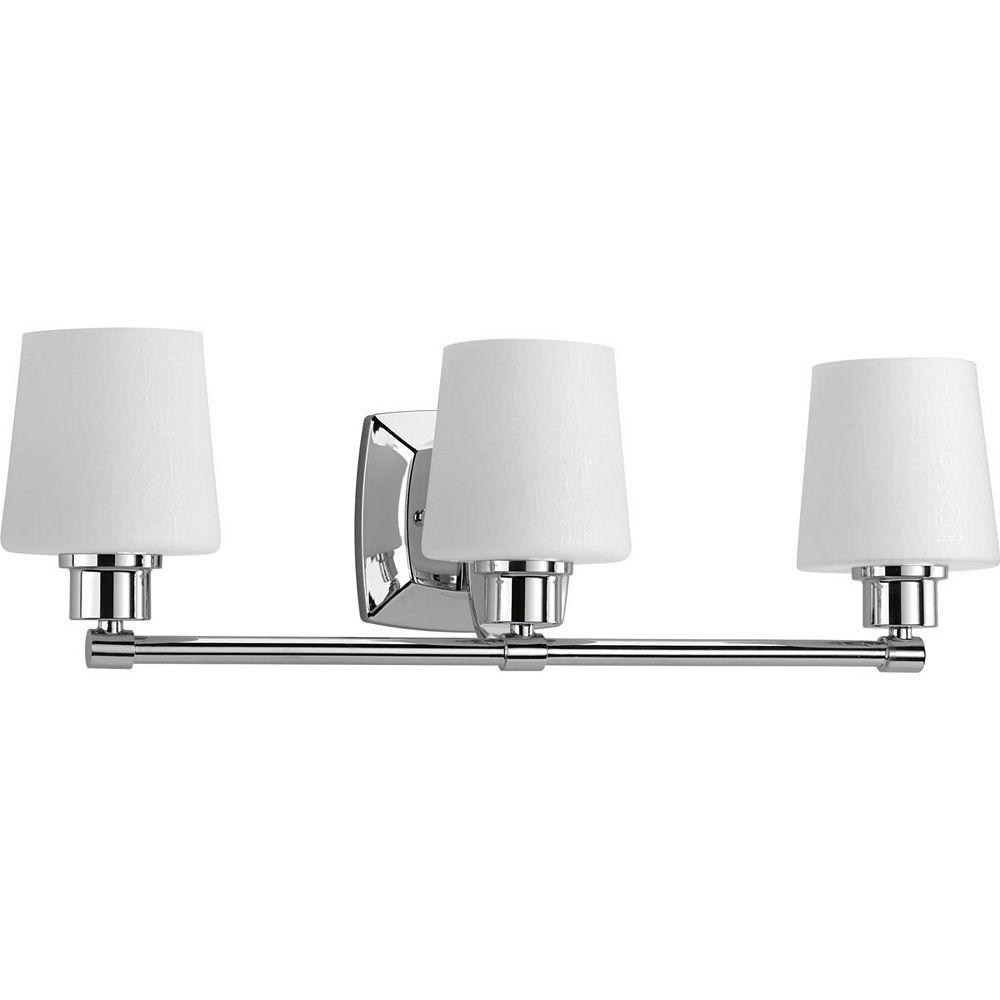 Progress Lighting Luminaire à trois lumières Glance pour salle de bain