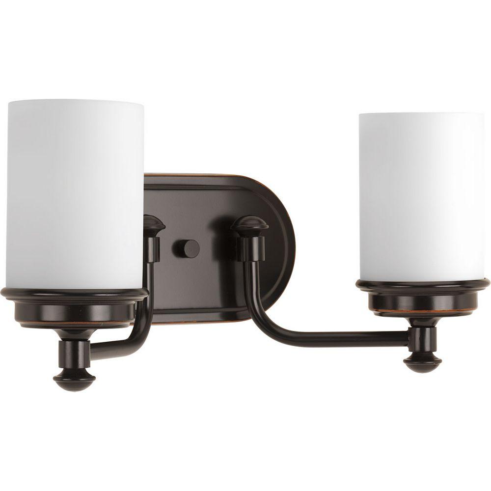 Progress Lighting Luminaire à deux lumières Glide pour salle de bain