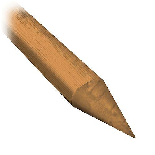 Micro Pro Sienna Bois traité 2-3po 7PI Poteau Pointu