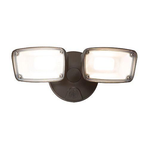 LED Twin Head Flood Light, Bronze
