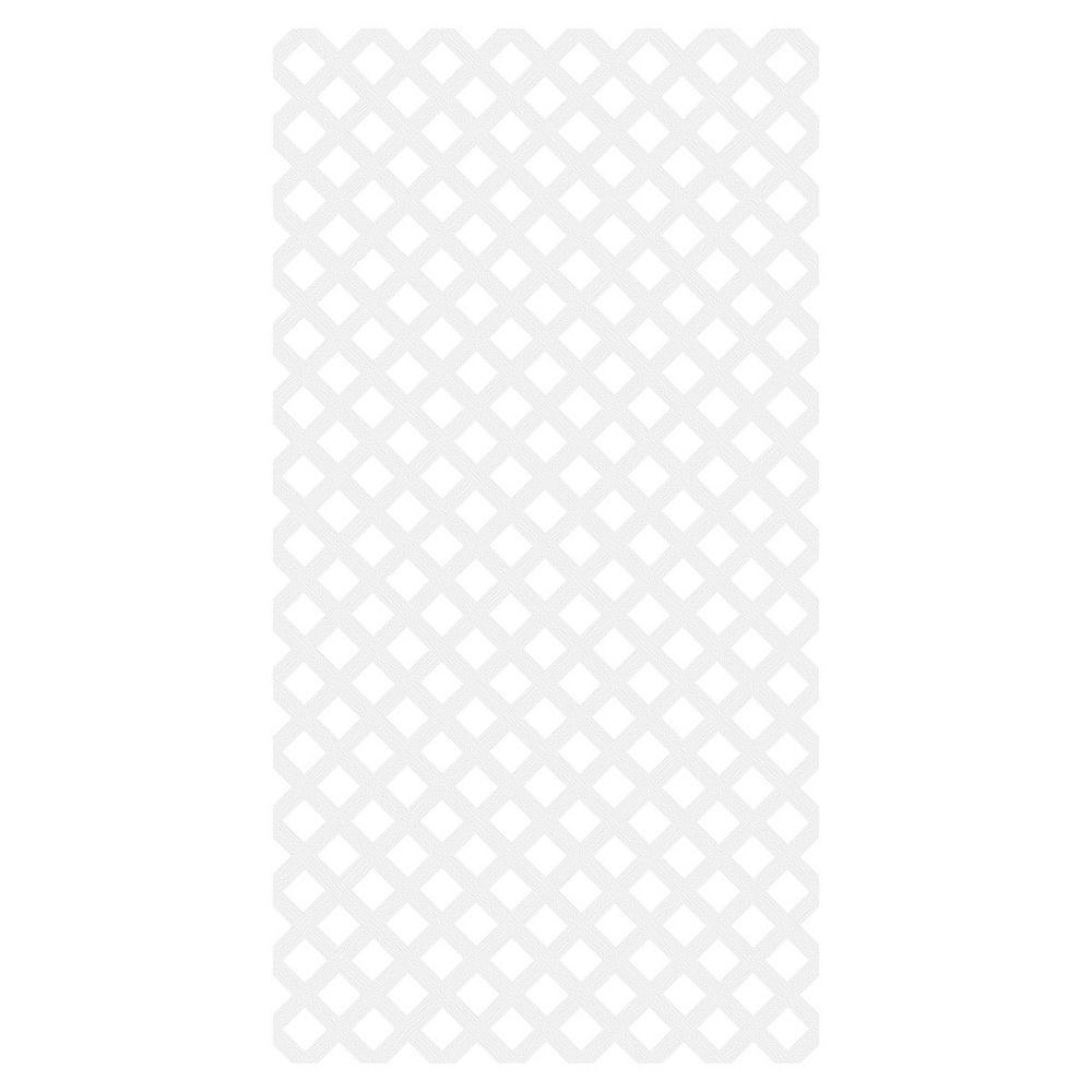 Barrette Diamond Classic 4X8 Vinyl Lattice - White