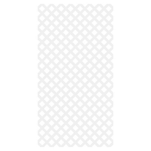 Diamond Classic 4X8 Vinyl Lattice - White