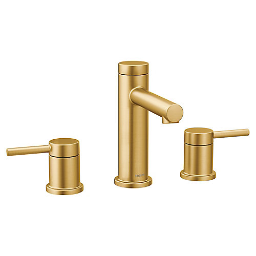 Align 8-Inch Widespread 2-Handle Bathroom Faucet Trim Kit in Brushed Gold (Valve Sold Separately)