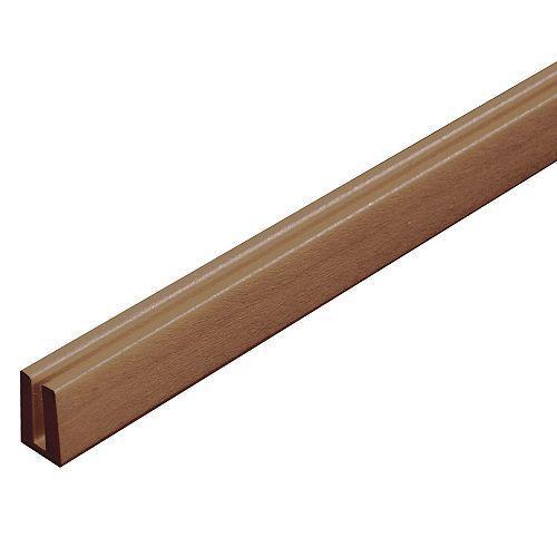 Plastic Cap Molding (U) Redwood