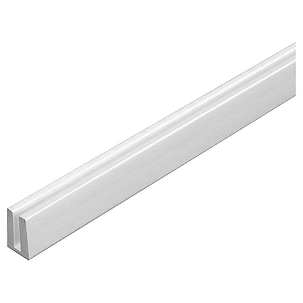 Barrette Plastic Cap Molding (U) White