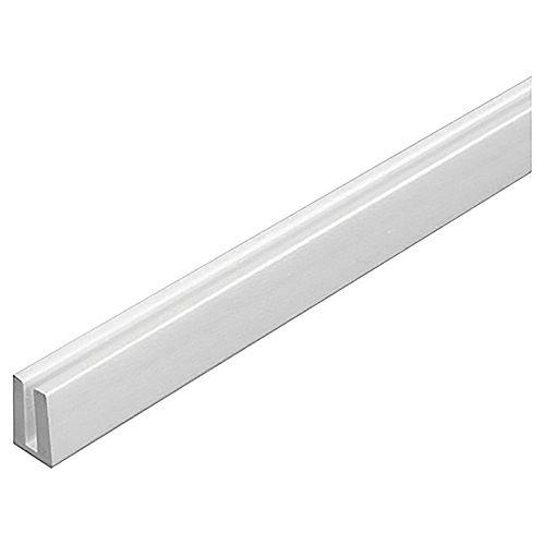 Plastic Cap Molding (U) White