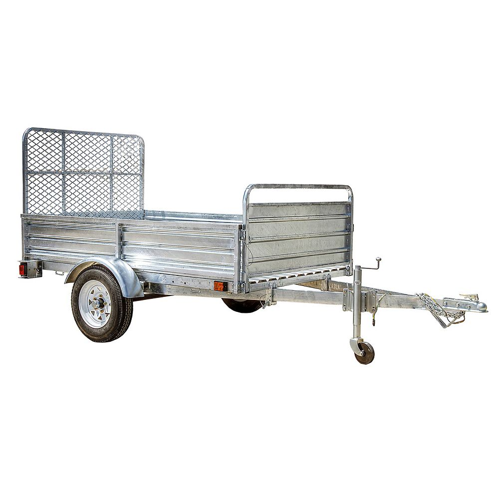 Dk2 5ft X 7ft Multi Purpose Utility Trailer Kits Galvanized With Drive Up Gate The Home Depot Canada