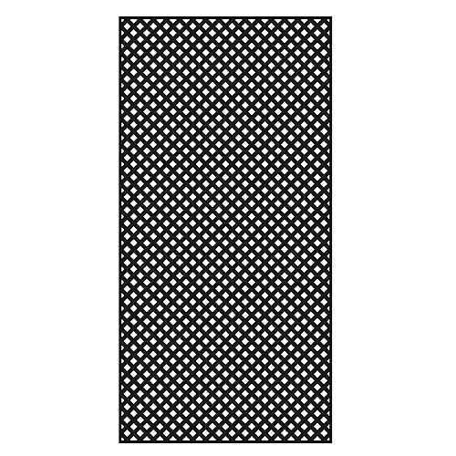 Diamond Privacy 4X8 Black Lattice