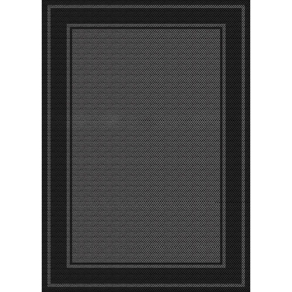 Hampton Bay Fresco Noble, Grey/Black 5 ft. 2-inch x 6 ft. 7-inch Indoor/Outdoor Mat
