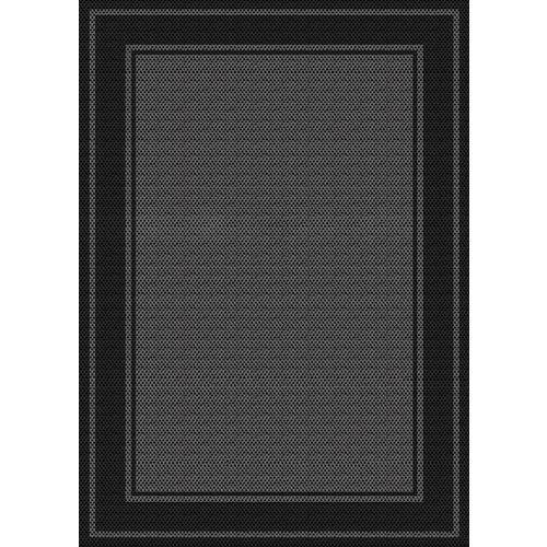 Hampton Bay Fresco Noble, Grey/Black 5 ft. 2-inch x 6 ft. 7-inch Indoor/Outdoor Mat