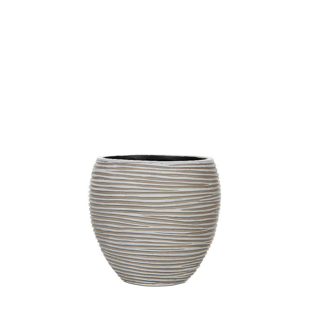 Home Decorators Collection Vase côtelé élégant en ivoire