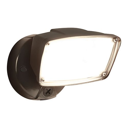 FSL Single Head Bronze Outdoor Integrated LED Flood Light with Selectable Color Temp