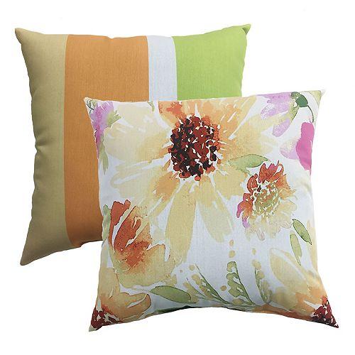 Pillow - 20x20 Fields Print / Large Stripe (2-Pack)