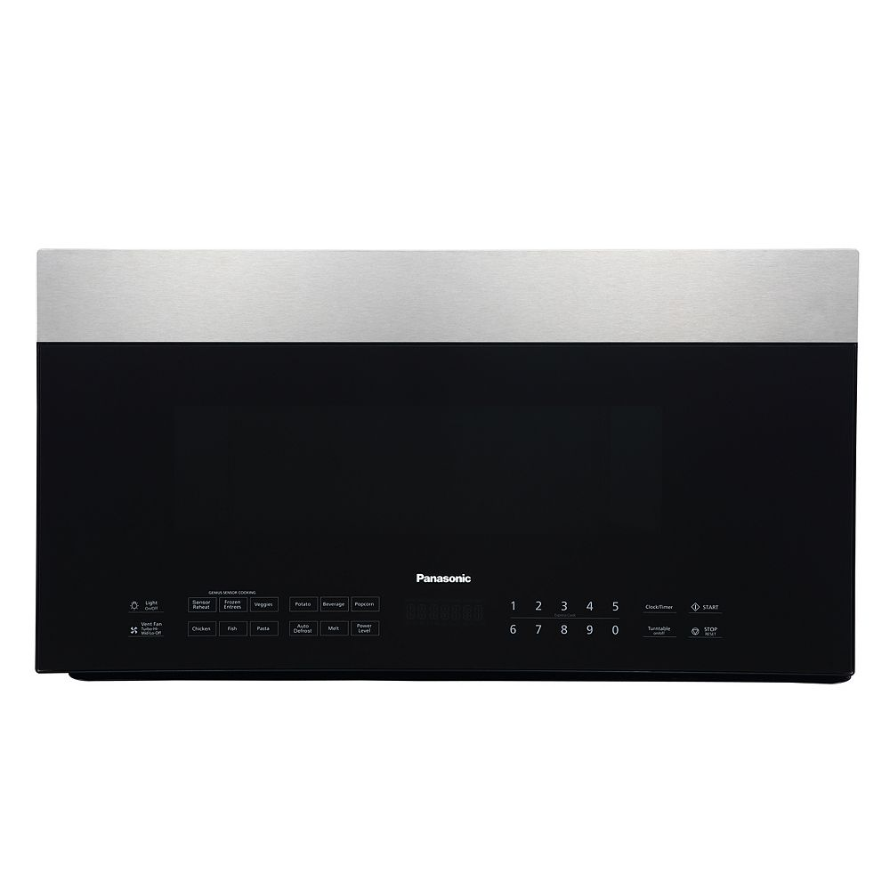 Panasonic 1 9 Cu Ft Over The Range Microwave Oven In