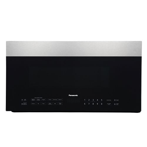 Panasonic 1.9 cu. ft. Over-the-Range Microwave Oven in Smoked Glass and Stainless Steel