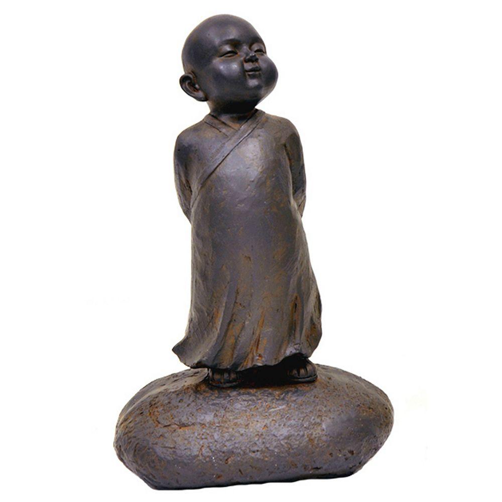 Hi-Line Gift Baby Buddha Standing Statue in Black Rust Finish