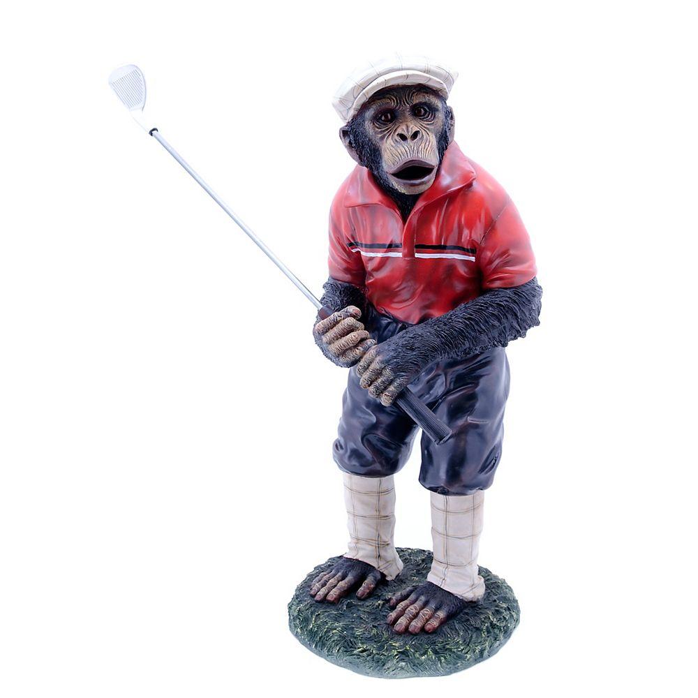 Hi-Line Gift Statue d'un singe golfeur