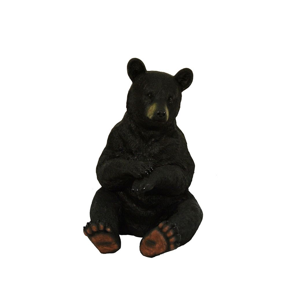 Hi-Line Gift Black Bear Standing  Statue