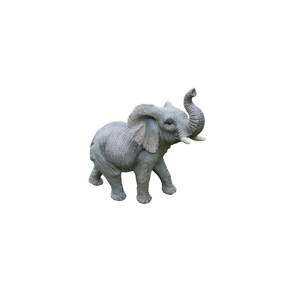 Hi-Line Gift Elephant with Trunk Up Statue