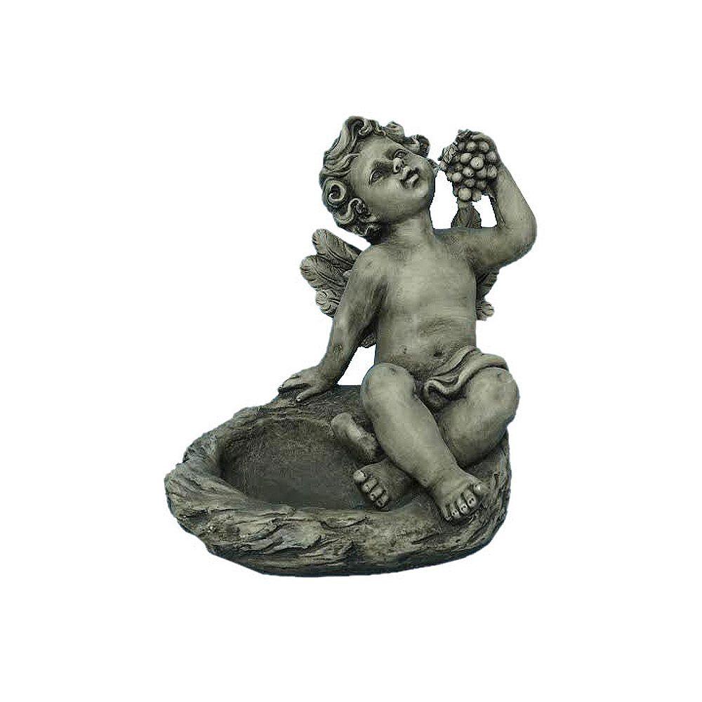 Hi-Line Gift Statue d'ange avec grappes qui sert de mangeoire