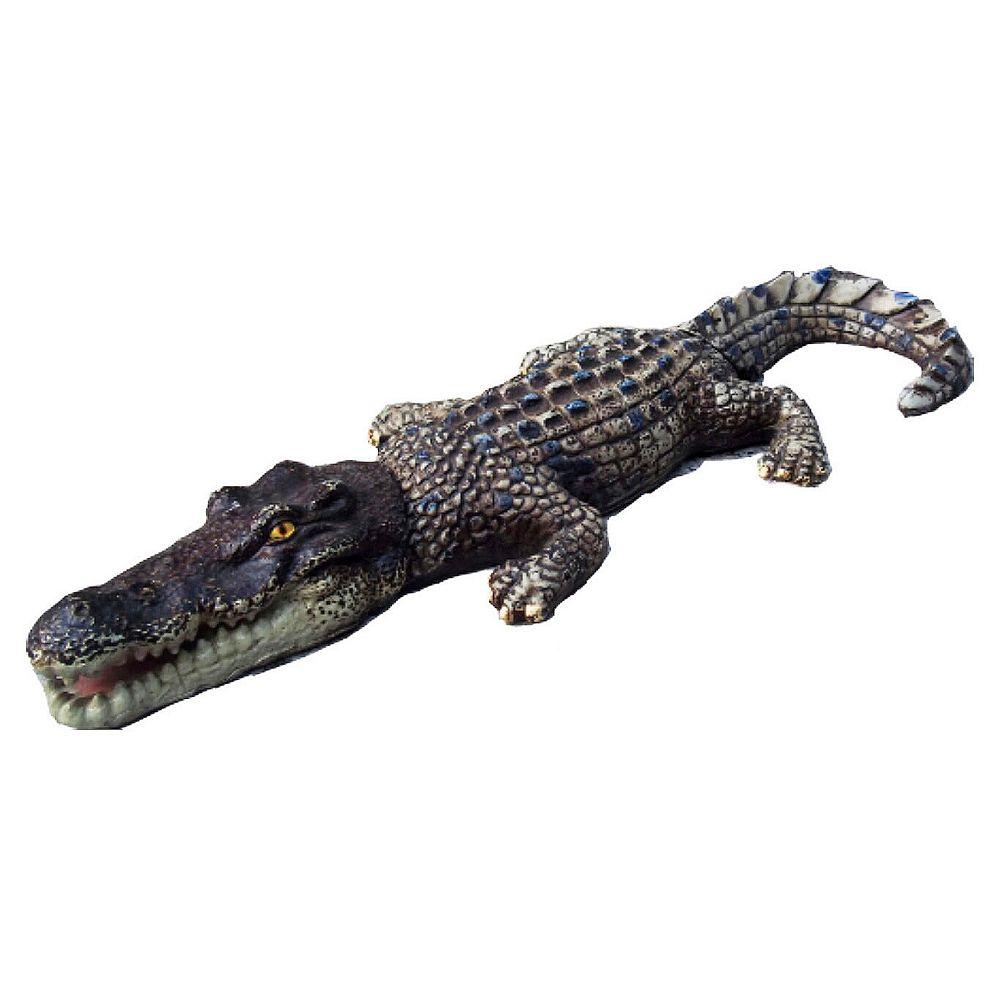 Hi-Line Gift Statue de crocodile flottant