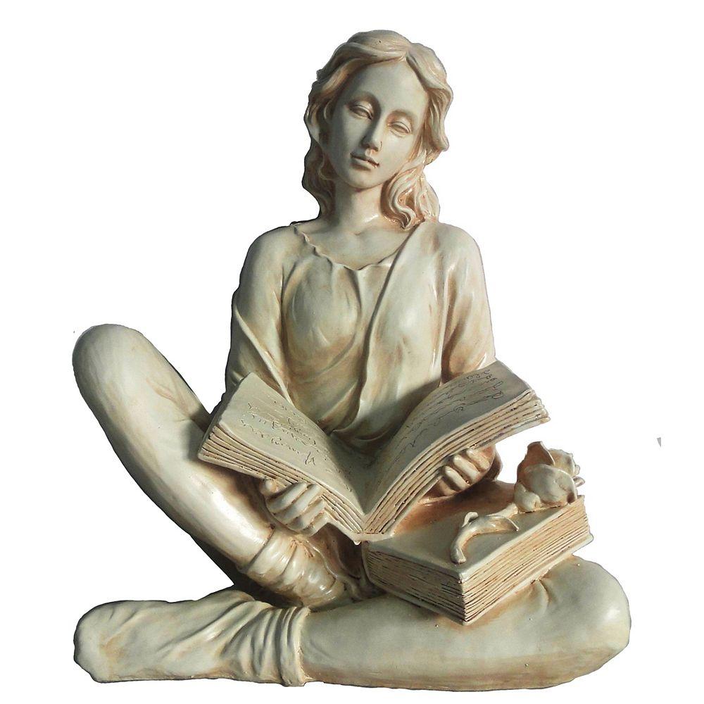 Hi-Line Gift Statue d'une femme en train de lire