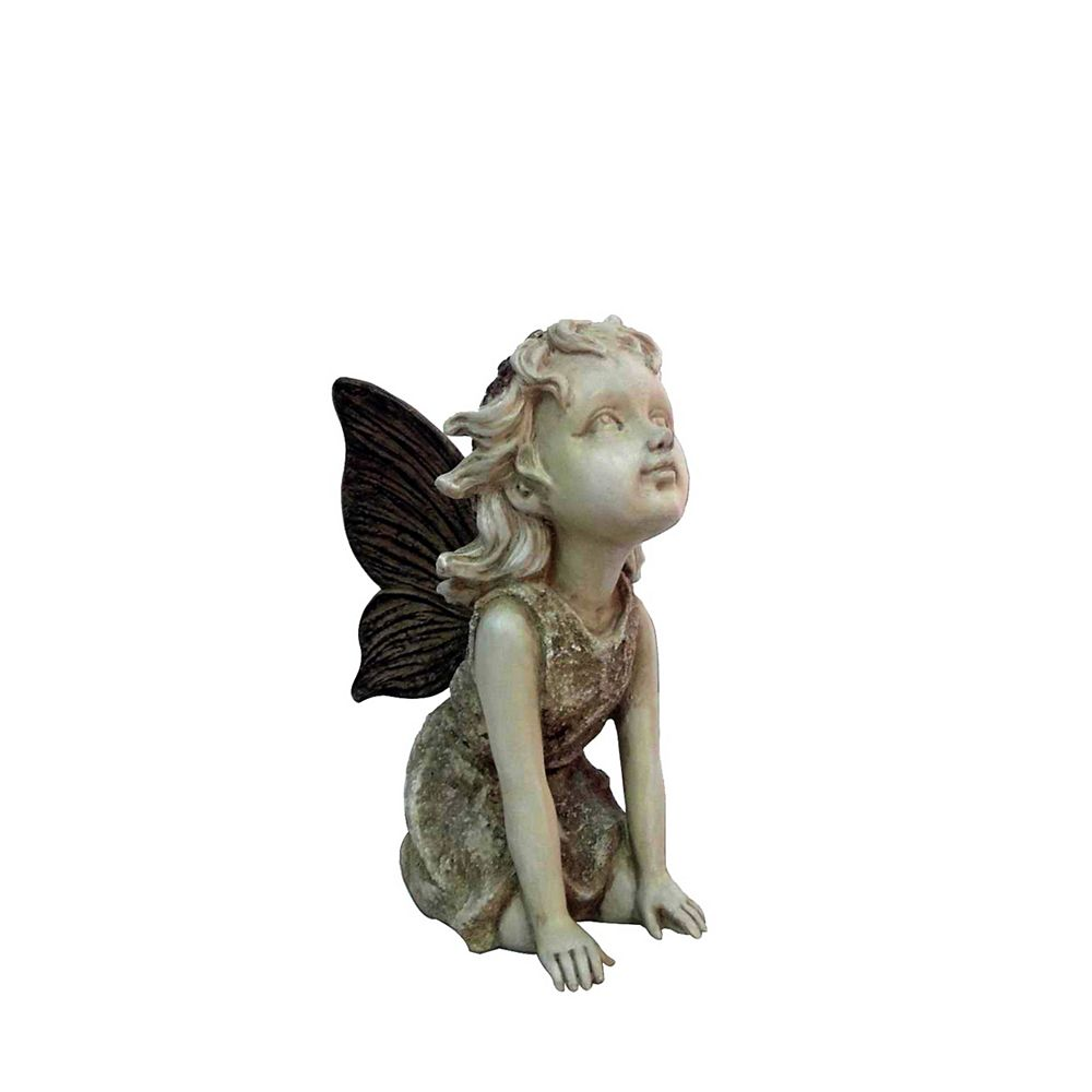 Hi-Line Gift Fairy Kneeling and Looking Up Statue