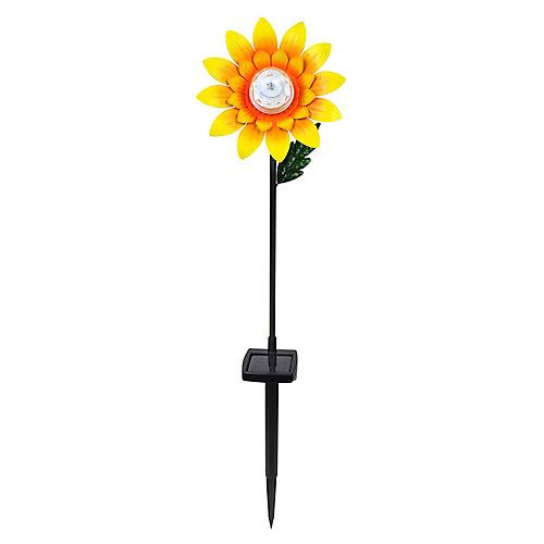 Fleur de tournesol avec pieu Lumière solaire DEL 275 haut