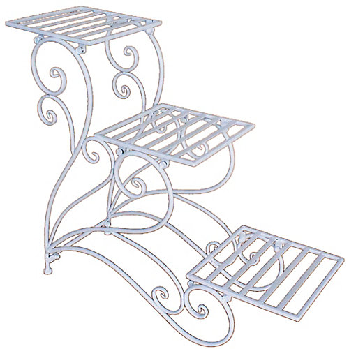 3 Levels Plant Stand, White