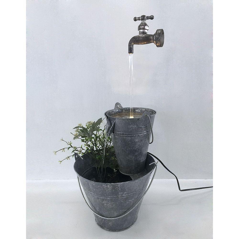 Hi-Line Gift Fontaine robinet en métal de zinc