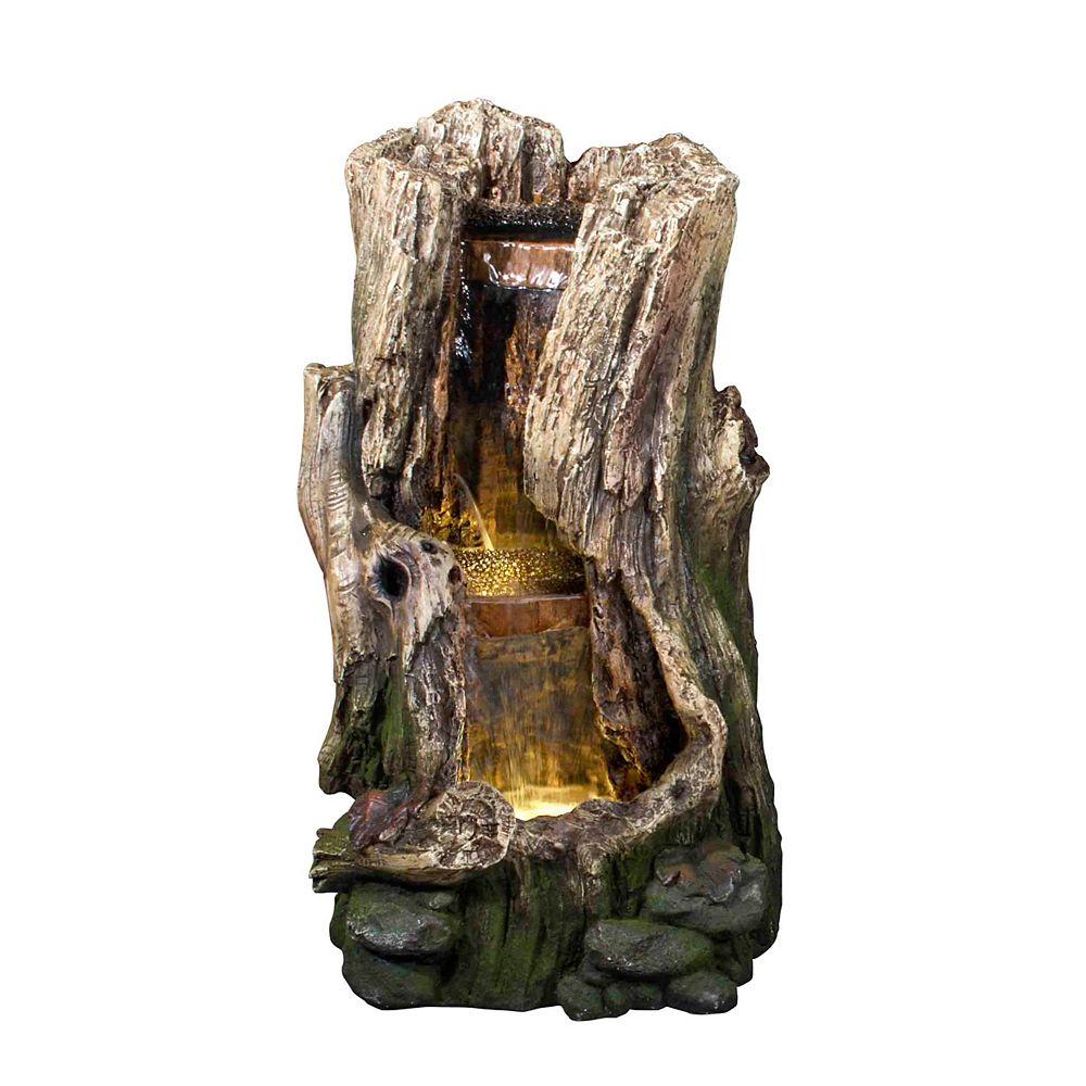 Hi-Line Gift Tree Trunk Waterfall Fountain