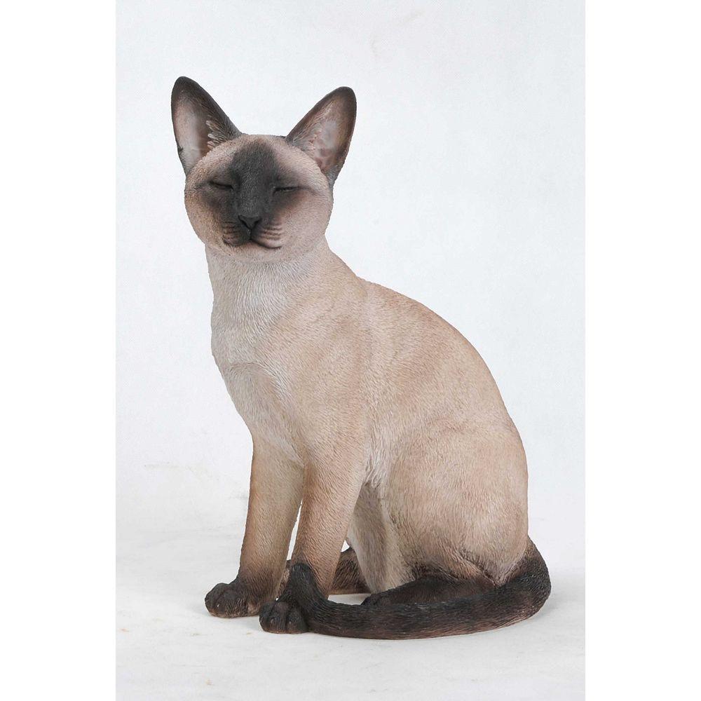 Hi-Line Gift Siamse Cat Sitting Statue
