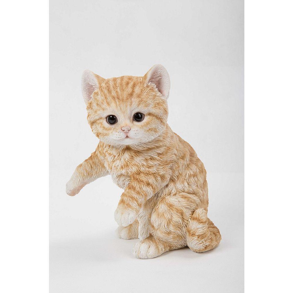Hi-Line Gift Statue Chaton tigré en train de jouer