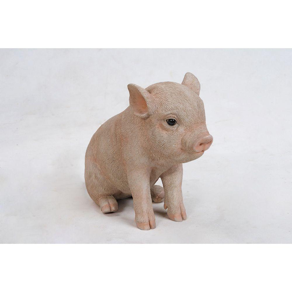 Hi-Line Gift Statue de cochonnet assis