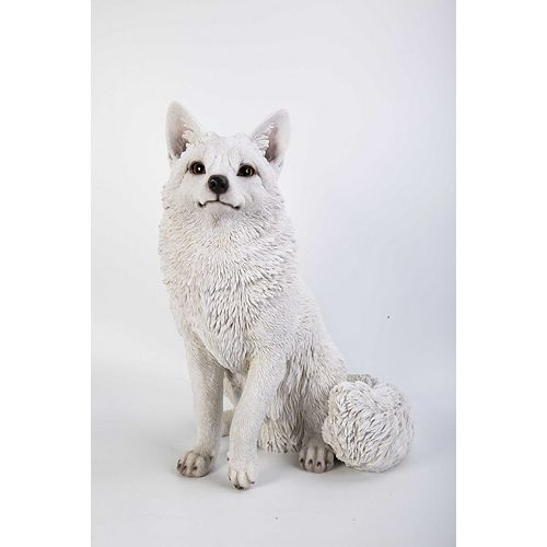 Hi-Line Gift Snow Fox Statue