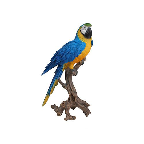 Hi-Line Gift Large Macaw Statue, Blue and Yellow Color
