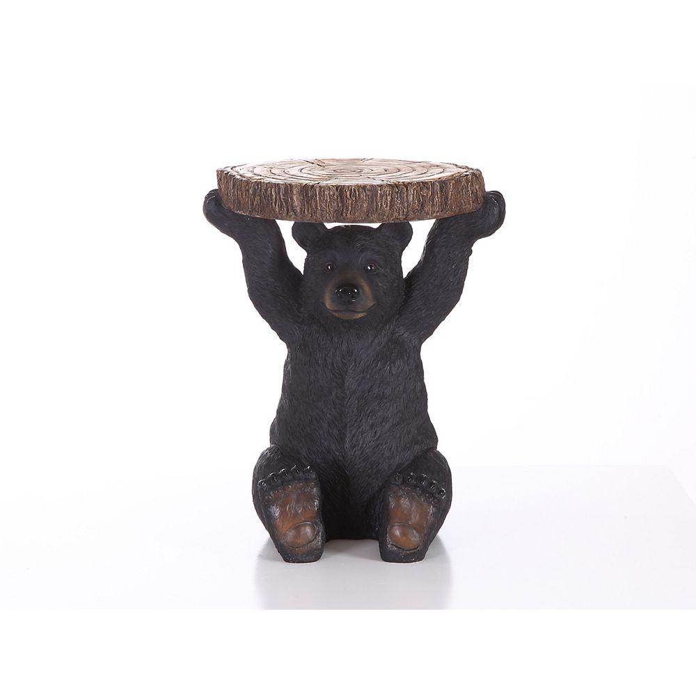 Hi-Line Gift Support pour plante, ours noir assis