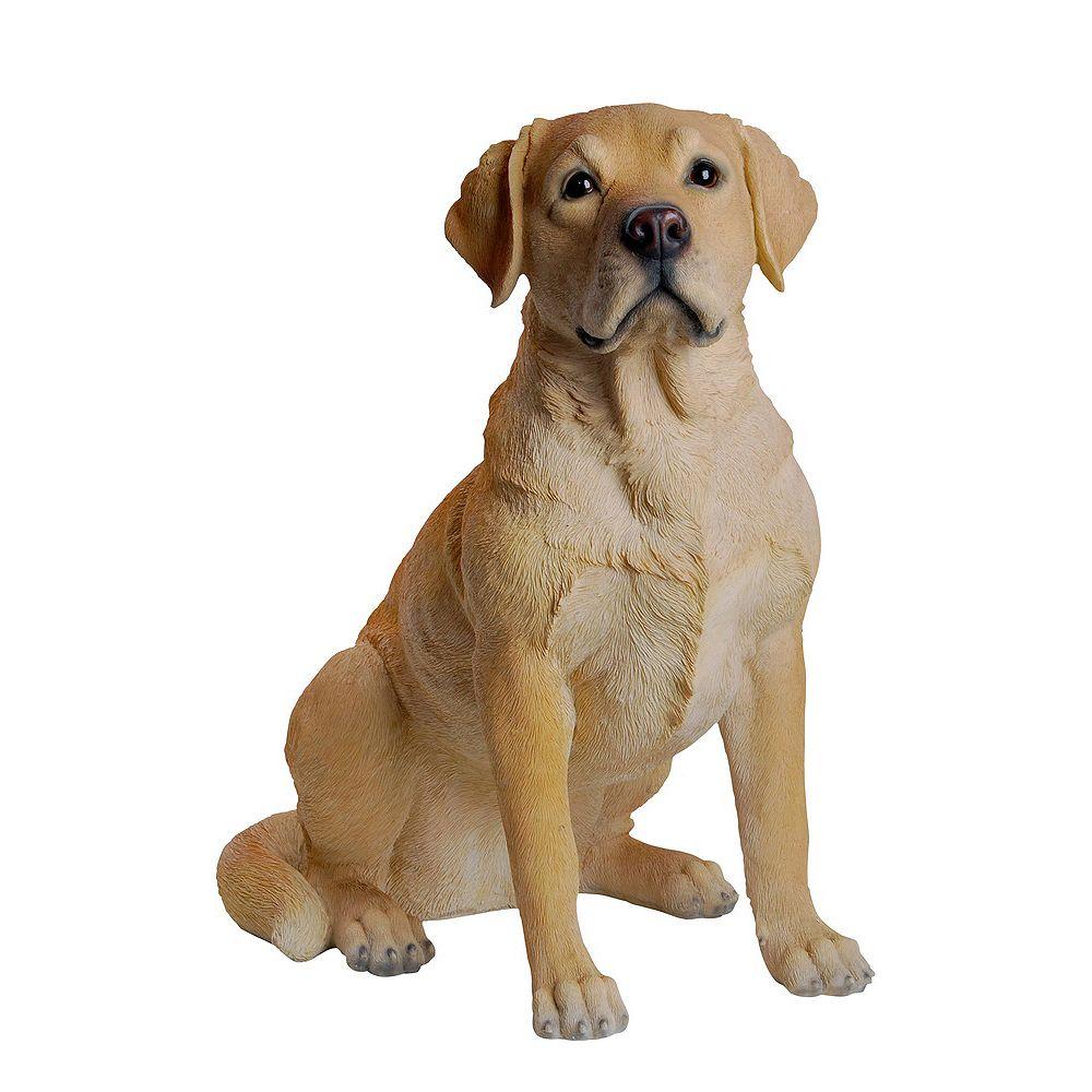 Hi-Line Gift Statue de Labrador retriever jaune, assis