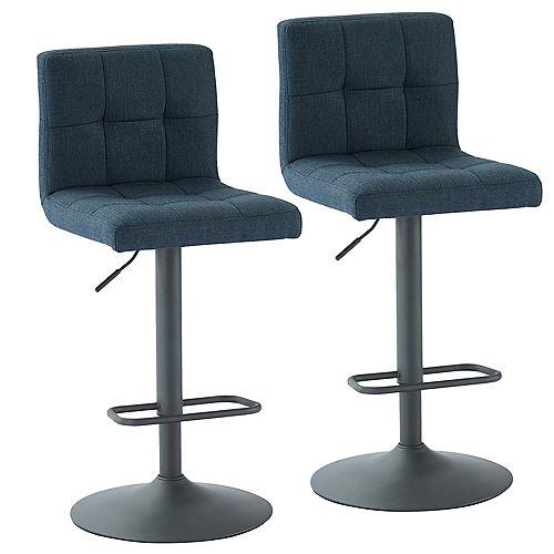 Sorb ensemble de deux, tabouret adjustable,bleu/gris