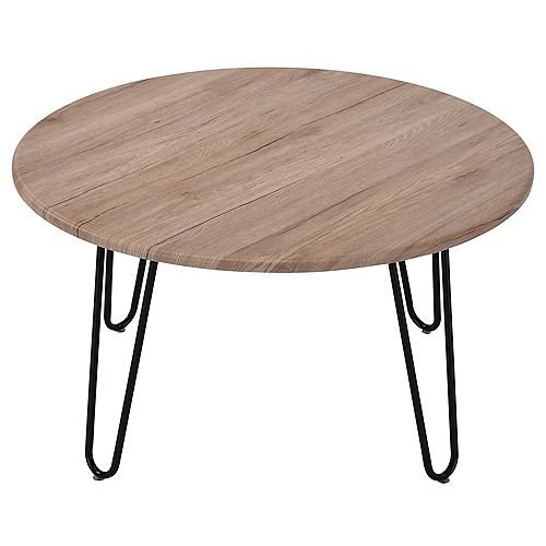 Tario Faux wood/Metal Coffee Table