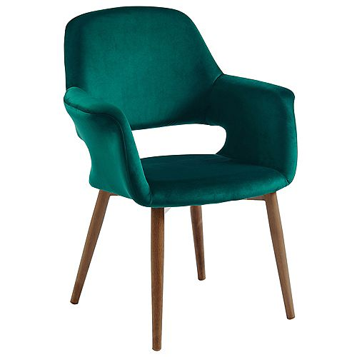 MIrandaVelvet Accent Chair, Green