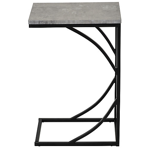 Darcy C-style faux cement/metal table