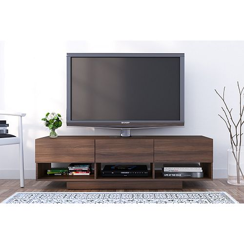 Rustik 60 inch 3-Drawer TV Stand in Walnut
