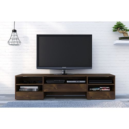 Rustik 72-inch 1-Drawer TV Stand in Truffle