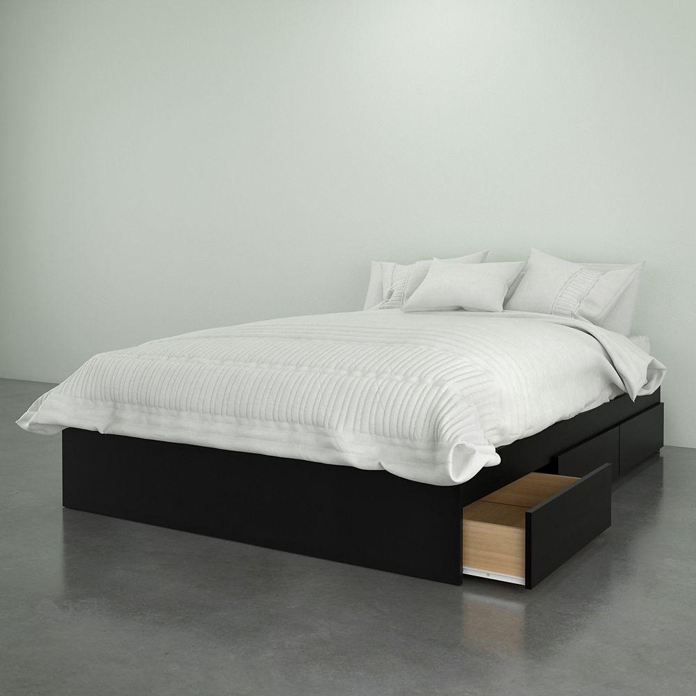 Nexera Avenue 3-Drawer Full Size Bed, Black